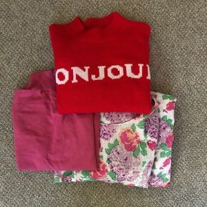 Pinks and Reds bundle: Size small